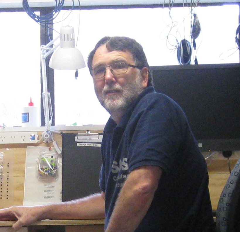 Dave in new workshop