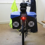 Rear view of e-bike - light on