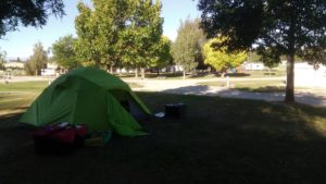 Tent at Omakau Domain Campsite