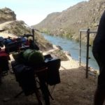Taking the shade above The Narrows in Roxburgh Gorge